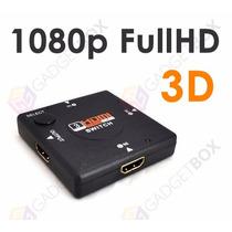 Hub Switch Hdmi 3 Portas Divisor Extensor Fullhd Gadgetbox