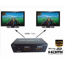 Splitter Distribuidor Divisor Hdmi 1.4v 1x2 Full Hd 3d 1080p