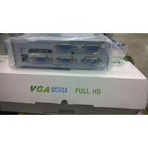 Splitter Divisor Sinal Distribuidor Video Vga 1x4 - Full Hd