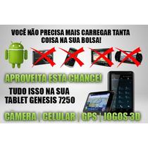 Tablet Genesis Gt 7250 3g Wi-fi Celular Máquina Fotográfica