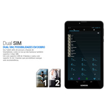 Tablet 2 Chip 3g Dual Core Genesis Gt-7325 Android 4.1 Preto