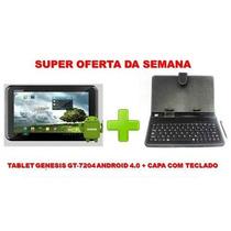Tablet Genesis Gt-7204 Tela 7 Android 4.0 Tv Digital + Capa