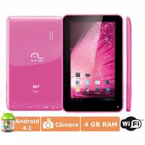 Tablet Dual Core Multilaser Android 4.2 7 Polegadas Rosa