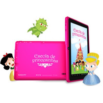 Tablet Android 7 Navcity Princesas Cartao 8gb Cx - Rosa