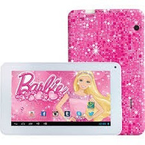 Tablet Da Barbie Dual Core Android Com Fone Infantil
