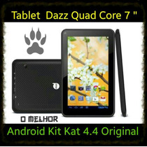 Tablet Dazz Quad Core 7 Android 4.4 Kit Kat Black Smart Pron