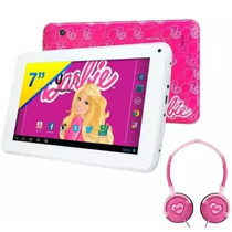 Tablet Barbie 8g C/ Fone Infantil *novo*