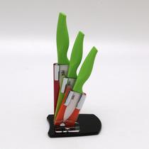 Jogo 3 Facas Cerâmica Verde Em Suporte Bon Gourmet R 20203