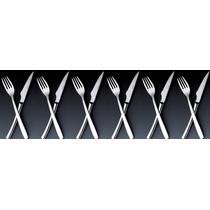 Jogo Talheres Churrasco 12 Pçs Aço Inox Wolff - 70110