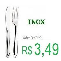 Talheres Em Inox Faca E Garfo Luxo - Preço Para 6 Unidades
