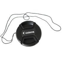 Tampa Canon Ø 58mm 67mm 72mm C/ Cordão P/ Objetiva Lente