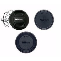 Kit 3 Pcs Tampa Nikon P/lente 18-55mm D3100 D3200 D3300