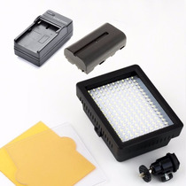 Iluminador W-160 + Bateria E Carregador P/ Video Dslr Led