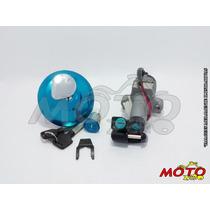 Kit Contato / Chave Ignição Cg150 Ks / Es (tampa Cromada)