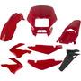 Carenagem Bros 150 Vermelho 03/04 E 05/07/08 Kit Completo
