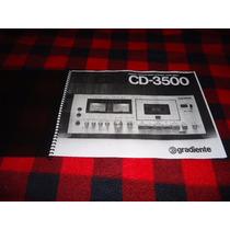 Manual Tape Deck Gradiente Cd3500 - Cópia Encadernada