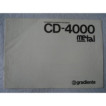 Tape-deck Gradiente Cd4000 Manual Original - Perfeito Estado