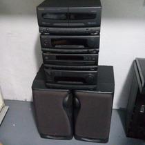 Conjunto Som Technics | Amplificador | Cd | Tape | Processad