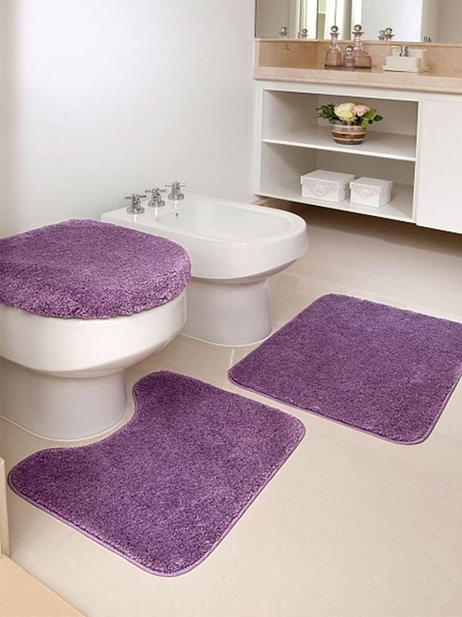 Tapete de banheiro kit 3 pe as 100 algod o admirare r for Kit da 3 bay