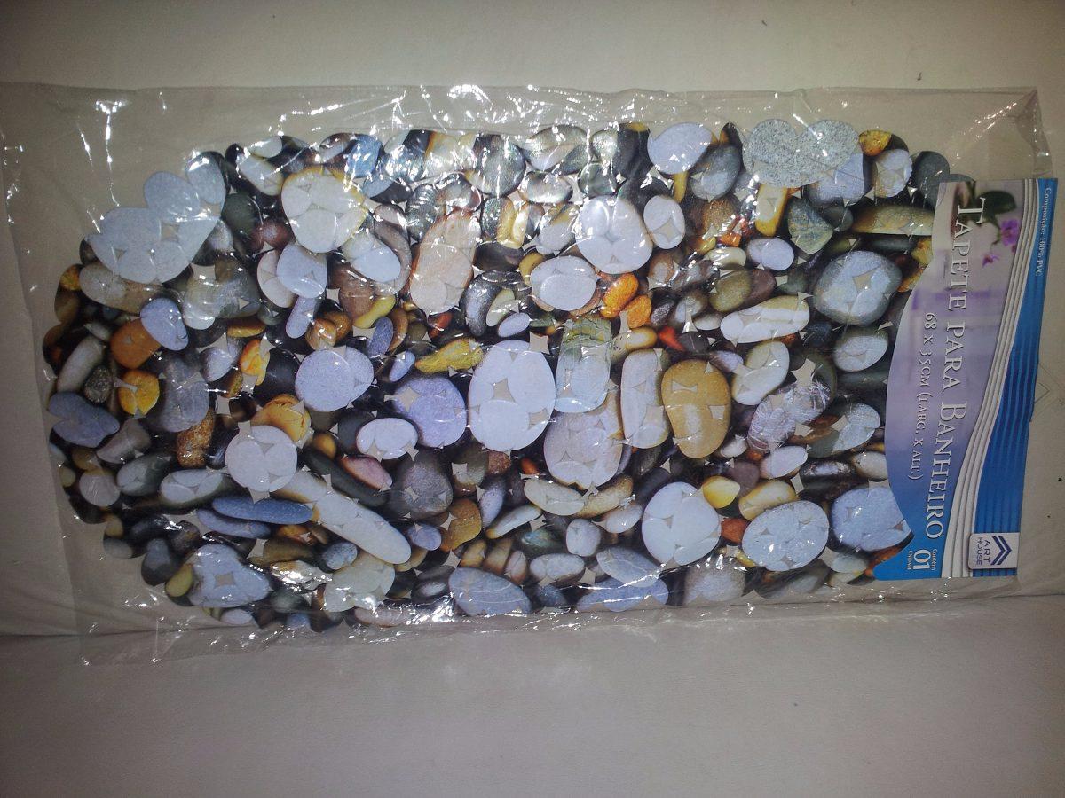 Tapete Para Banheiro Desenho Pedras Antiderrapante Pvc R$ 24 99 no  #334769 1200 900