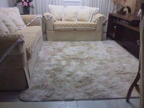 Tapete peludo para quarto sala sala de jantar 3 0x2 5mt for Sala de estar tapete