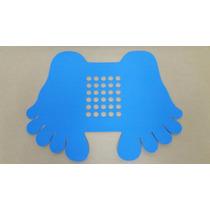 Tapete Pezinho P/box De Banheiro Antiderrapante 45 X 22 Azul