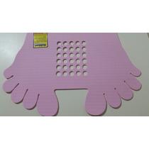 Tapete Pezinho P/box De Banheiro Antiderrapante 45 X 22 Rosa
