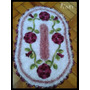 Tapetes Kit Banheiro Em Crochê Floral Perfeito 3 Peças