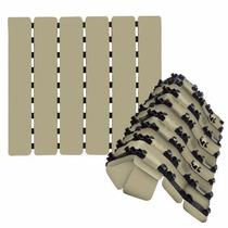 Piso Tapete Estrado Antiderrapante P/ Box Ventosas Cor Creme