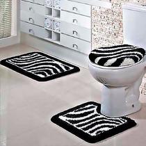 Jogo Banheiro 3 Peças Antiderrapante Tapertart Frete Gratis