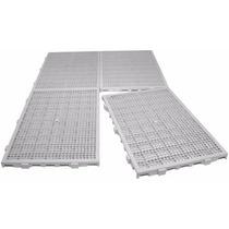Tapete Plástico Estrado 50x25x2,5cm Branco Multiusos 32 Pçs