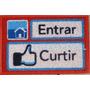 Tapete Capacho Entrar Curtir Facebook Com Bordas Rebaixadas