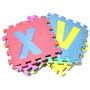 Tapete Infantil Eva 10 Letras Do Alfabeto Variada 29x29 9300