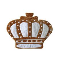 Tapete Para Quarto De Bebê Menino Príncipe Coroa Cáqui Lb527