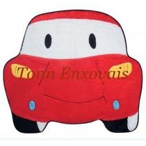 Promoção Tapete Infantil Carro Vermelho Pelúcia Frete Grátis