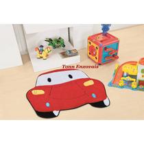Promoção Tapete Infantil Carro Vermelho 82cmx68cm Em Pelúcia