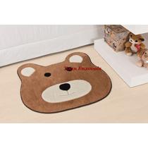 Promoção Tapete Infantil Urso Caramelo 75cmx65cm Em Pelúcia