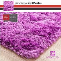 Tapete Shaggy Seda, Light Purple, Sob Medida, 1,40m Redondo