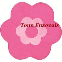 Promoção Tapete Margarida Dupla Pink Rosa 75x65cm Em Pelúcia
