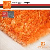 Tapete Silk Shaggy Fio De Seda : Orange( Laranja )0,50x1,00m