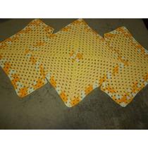 Tapete De Crochê Em Barbante Amarelo 1m Comprimento