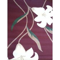 Tapete De Sala Persa 1.33 X 1.90 Desenho Tulipa Vinho