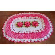 Artsbylena! Tapete Crochê Flores Pelinhos - Sob Encomenda