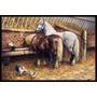 Comer Dos Cavalos Com As Galinhas Mat Interior Ou Exterior 1