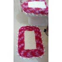 Jogo Para Banheiro Em Crochê - 2 Peças Frete Gratis