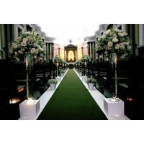 Passadeira Tapete Verde Para Casamento, Festas 15 Metros