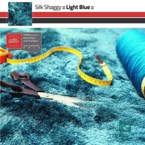 Tapete Shaggy Fio Seda : Azul Turquesa, Tiffany : 0,50x1,00m
