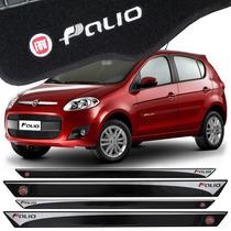 Friso Lateral Fiat Novo Palio + Tapetes Bordados + Soleiras
