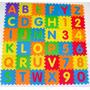 Tapete Infantil Eva Alfabeto Números 36 Peças Antiderrapante