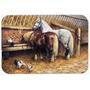 Comer Dos Cavalos Com As Galinhas Cozinha Ou Banho Mat 20x30